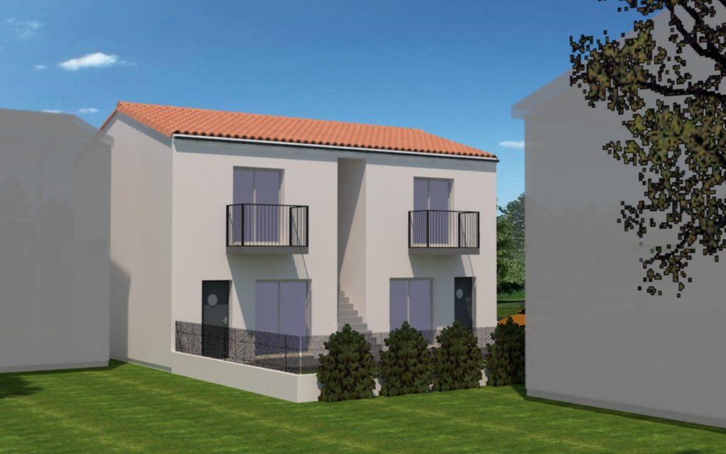 Résidence de quatre appartements meublés à Jonzac