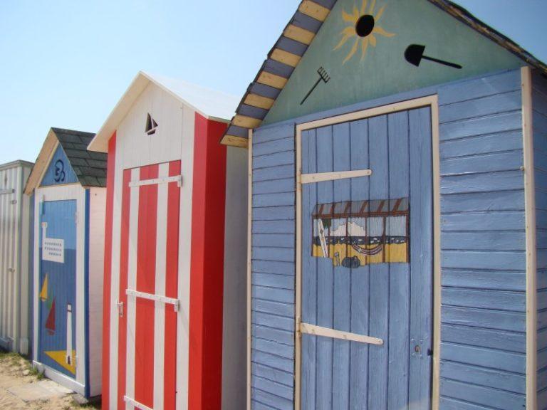 Cabanes de plage à Saint Denis d'Oléron