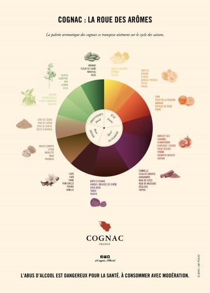 Roue des arômes du cognac