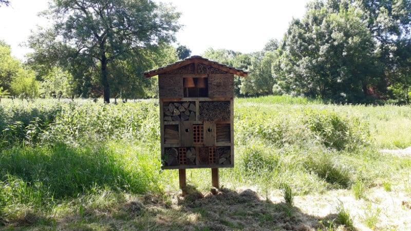 Gîte pour insectes pour lutter contre les parasites et favoriser la biodiversité locale