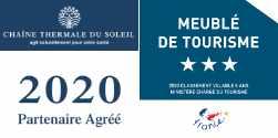 Meublé de tourisme classé 3* et partenaire Chaîne Thermale du Soleil