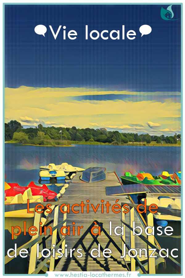 Vie locale et les activités plein air de la base loisirs à Jonzac