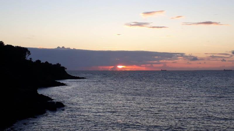 Coucher de soleil depuis l'île aix