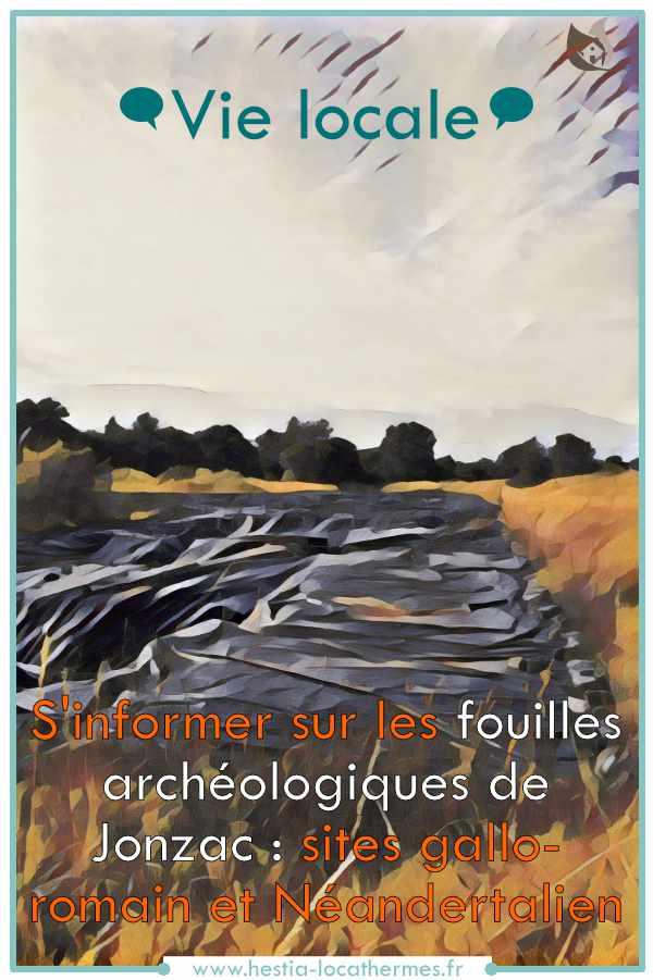 Vie locale et patrimoine des fouilles archéologiques de Jonzac
