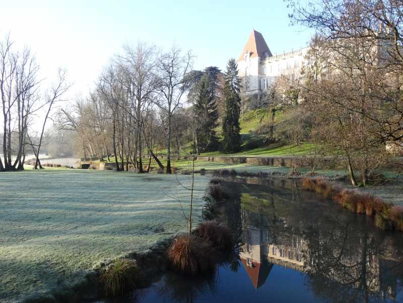 Château de Bourg-Charente et son reflet