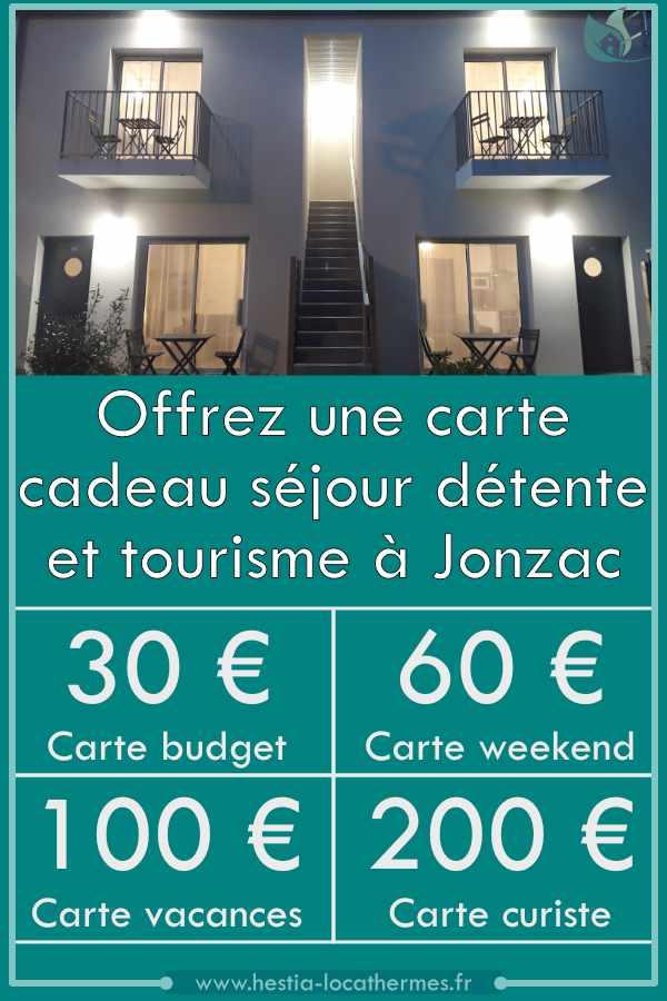 Carte cadeau séjour détente et tourisme à Jonzac