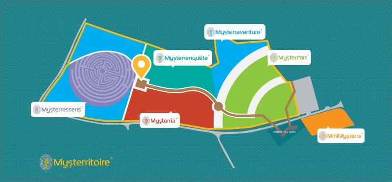 Plan du Parc Mysterra